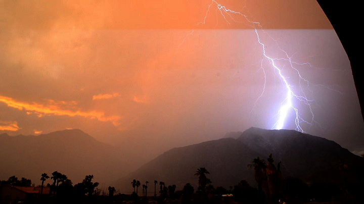 Lightning Storms around Borrego Springs on the 15th