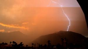 Sunset Lightning