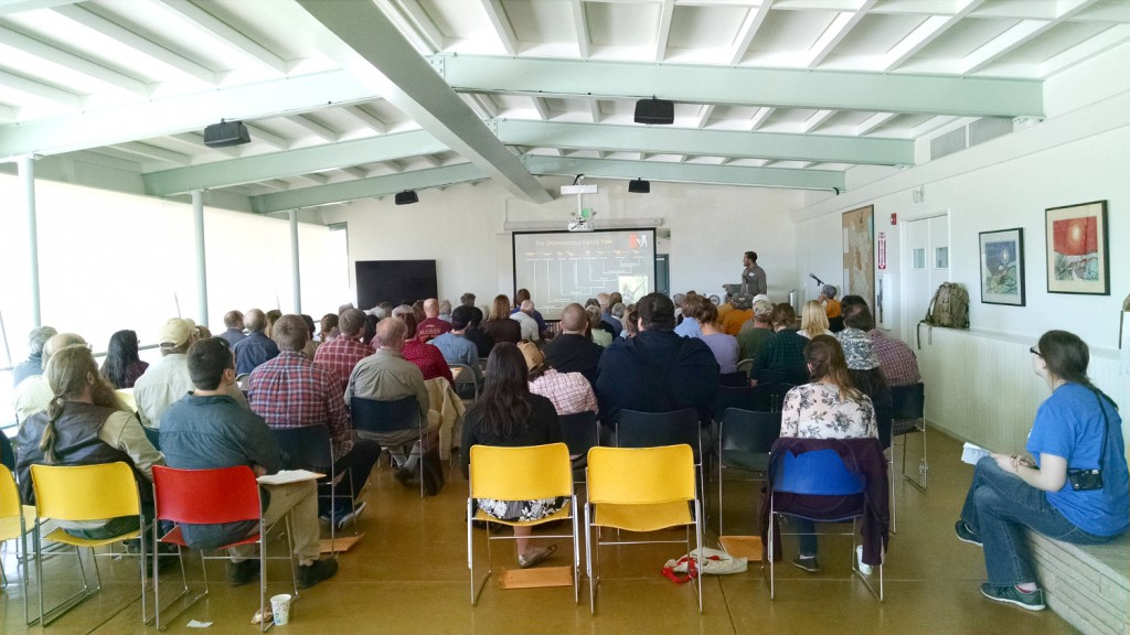Western Association of Vertebrate Paleontologists conference - SBABDRC 13 February 2016 (photo by Briana Puzzo)