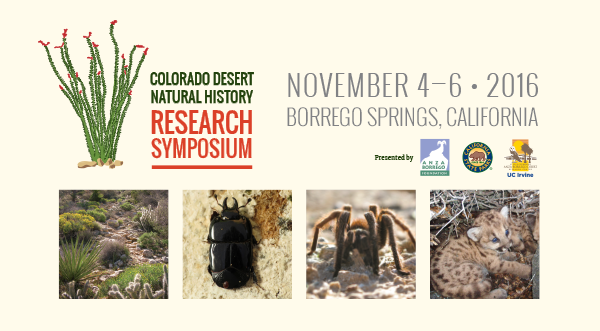 2016 Colorado Desert Natural History Research Symposium