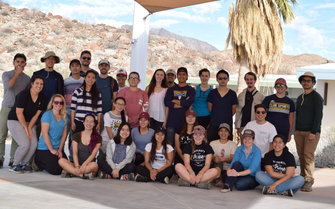 UC Irvine Earth System Science Department Advanced Geology class trip to Anza-Borrego
