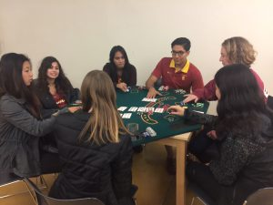USC students around table