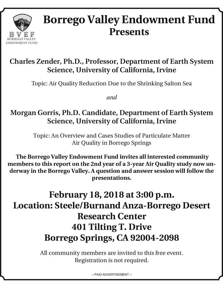 FLyer Particulate Presentations Borrego Valley and Salton Sea